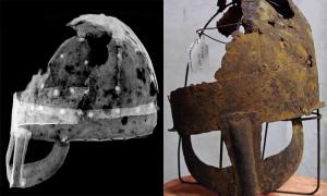 Mũ giáp hơn 1.000 năm tuổi