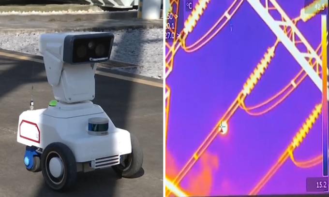 Robot thay người kiểm tra lưới điện dưới nắng nóng