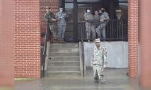 Căn cứ Mỹ ngập trong nước lũ