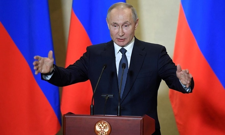 Điện Kremlin công bố thu nhập của Putin năm 2019