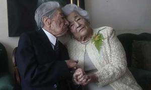 Vợ chồng lập kỷ lục tổng 215 tuổi