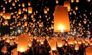 Người Thái nơm nớp vì lễ hội đèn trời