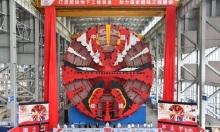 Máy đào hầm dạng khiên 4.300 tấn xuất xưởng