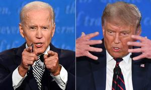 Trump lấn át Biden trong cuộc tranh luận giống 'tai nạn tàu hỏa'