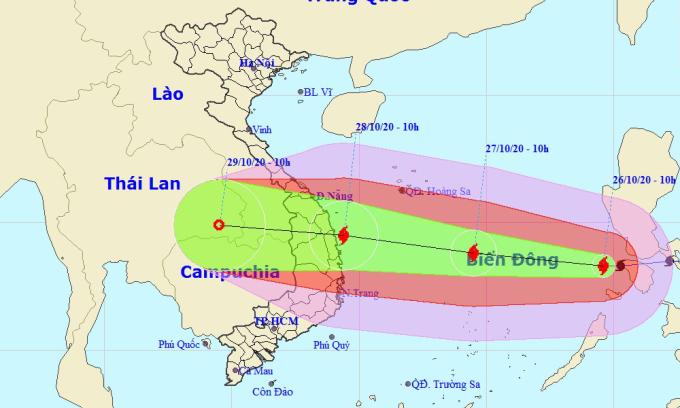 Bão Molave vào Biển Đông, dự kiến sơ tán hơn 1,2 triệu dân