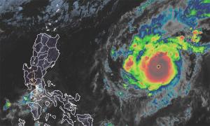 Goni trở thành bão mạnh nhất thế giới trong năm