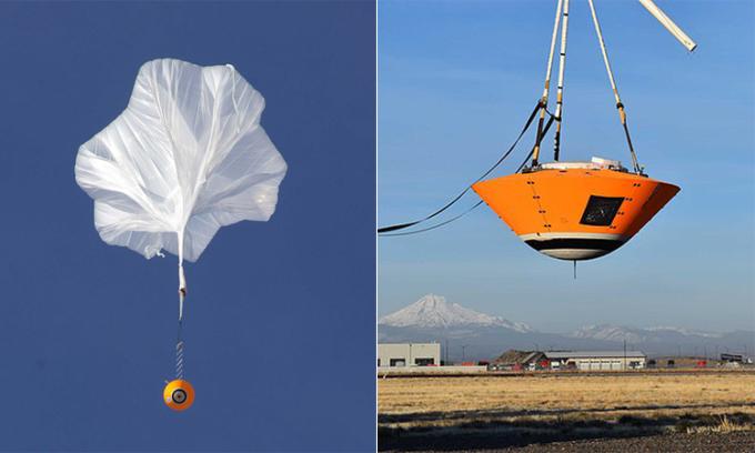 Thử nghiệm thả trạm đổ bộ sao Hỏa từ độ cao 29.000 m