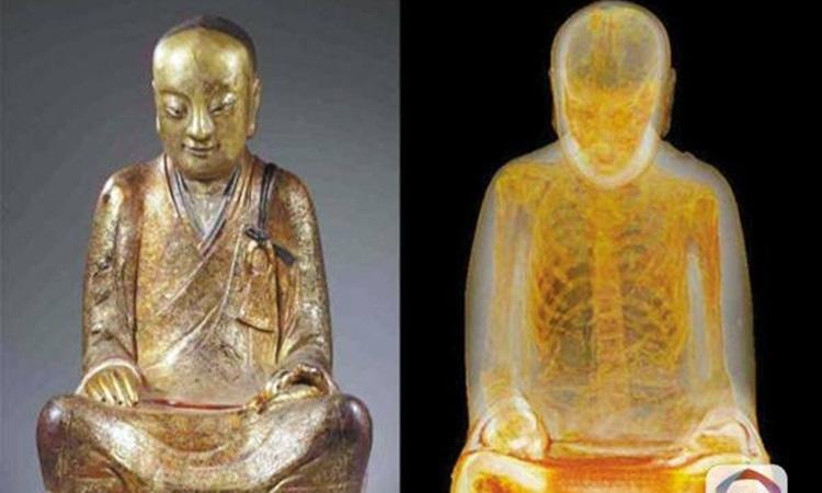 Trung Quốc đòi lại tượng Phật chứa xác ướp nhà sư