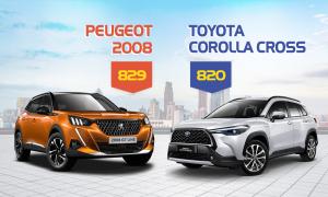 Peugeot 2008 và Corolla Cross - lựa chọn ôtô nào dưới 830 triệu