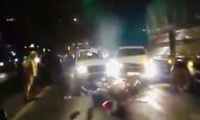 Ôtô chở hàng lậu đâm xe CSGT