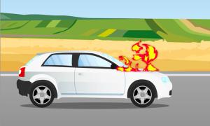 Cách thoát khỏi xe khi bị cháy