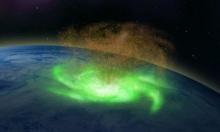 Bão vũ trụ rộng 1.000 km xoay tròn phía trên Bắc Cực