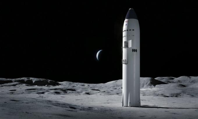 SpaceX thắng hợp đồng chế tạo tàu đổ bộ Mặt Trăng