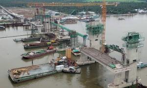 Cống thủy lợi lớn nhất miền Tây vận hành vào tháng 2