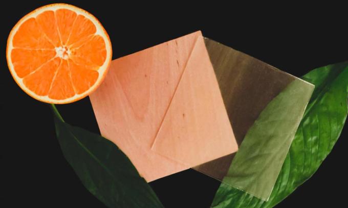 Gỗ trong suốt làm từ vỏ cam