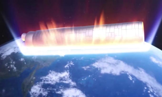 Quá trình mảnh tên lửa Trung Quốc rơi mất kiểm soát