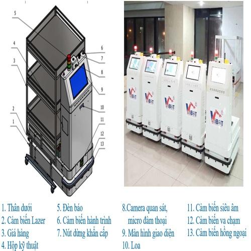 Robot y tế vận chuyển Vibot