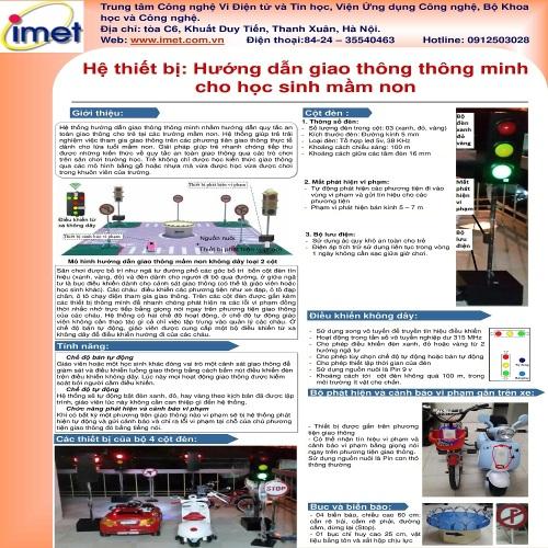 Hệ thiết bị: Hướng dẫn giao thông thông minh cho học sinh mầm non