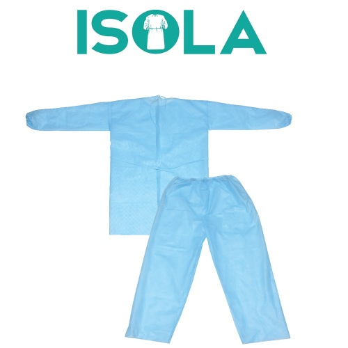 Bộ trang phục áo choàng cách ly ISOLA