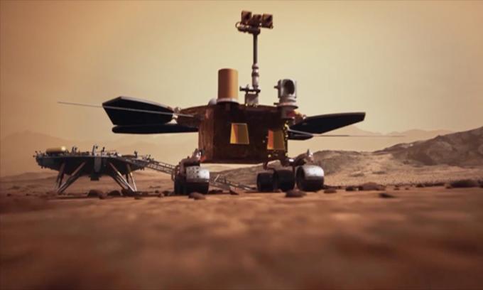 Hành trình 68 ngày robot Trung Quốc trên sao Hỏa