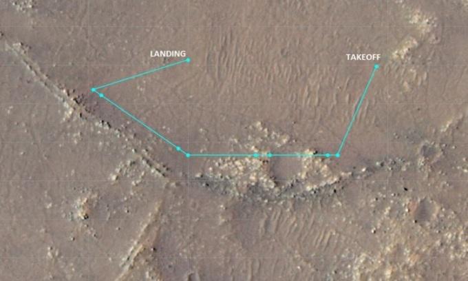 Trực thăng NASA lập kỷ lục bay cao mới trên sao Hỏa