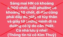 Người tung tin Hà Nội có 3.000 chốt kiểm tra bị phạt 12,5 triệu đồng
