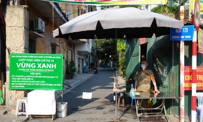 Lập chốt 'vùng xanh' ngăn dịch ở Hà Nội