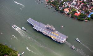 Tàu sân bay nội địa Ấn Độ lần đầu ra biển thử nghiệm
