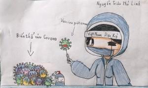 Những bức vẽ đầu tiên của cuộc thi 'Vì một Việt Nam tất thắng'