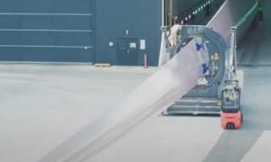 Cánh quạt turbine gió tái chế đầu tiên trên thế giới