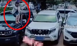 Cô gái trừng trị anh chàng giành chỗ đỗ xe