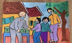 Thêm 5 bức vẽ đạt giải tuần 'Vì một Việt Nam tất thắng'