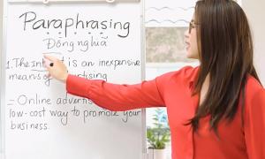 Sử dụng từ đồng nghĩa trong kỹ thuật viết lại câu