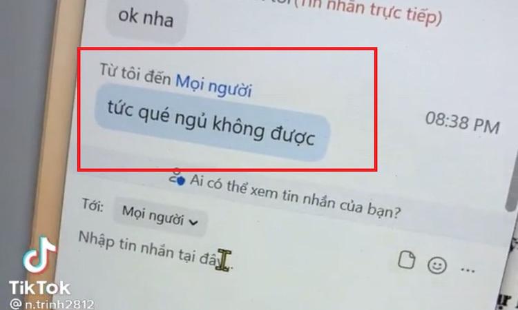 Nữ sinh bị thầy giáo trêu vì gửi nhầm tin nhắn