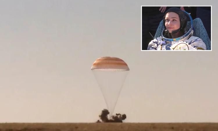 Đoàn làm phim Nga trở về từ ISS