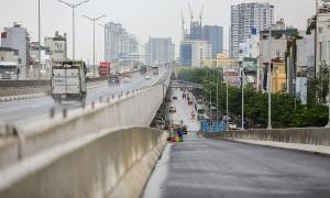 6 nhánh lên xuống cầu cạn Mai Dịch - Nam Thăng Long sắp hoàn thành