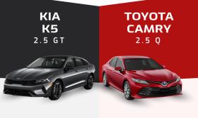 Kia K5 mới và Toyota Camry - cuộc chiến sedan Hàn, Nhật