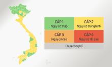 Cấp độ dịch bệnh của 63 tỉnh, thành